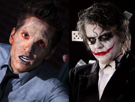 maquillaje aterrador de halloween