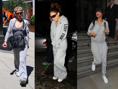 chandal gris famosas