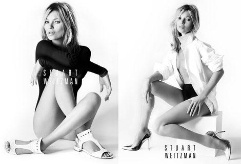 Una sexy Kate Moss sustituye a Natalia Vodianova como imagen de Stuart Weitzman
