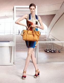 Primeras imágenes de Coco Rocha para la campaña primavera 2013 de Longchamp