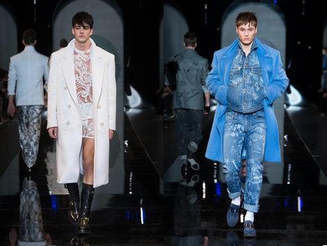Encaje y denim en la colección de Versace para el otoño/invierno 2013/2014