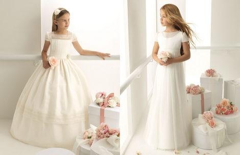 Vestidos de Comunión de la colección 'Rosa Clará First'