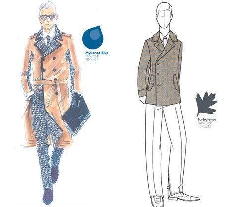 Dos looks con los colores masculinos del otoño/invierno 2013/2014
