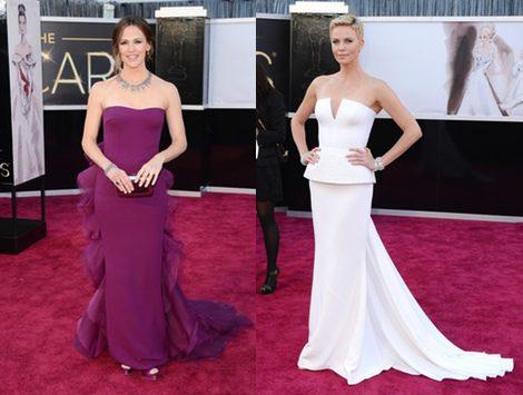 Jennifer Garner y Charlize Theron, las más elegantes de la Alfombra Roja
