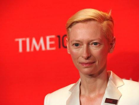 Tilda Swinton en el photocall del evento de la revista Time