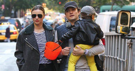 Miranda Kerr, Orlando Bloom y su hijo Flynn