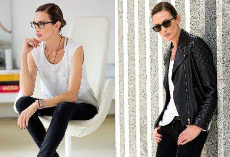 Nieves Álvarez con dos modelos de la nueva colección 2015/2016 de Transitions