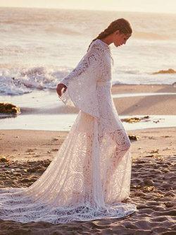 Vestido de novia con encaje de Free People