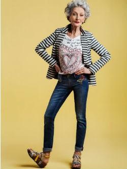 Alicia Borrás en la colección 'Exotic Jeans' Primavera/Verano 2016 de Desigual