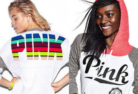 Sudadera y camiseta en tonos oscuros de la nueva colección de Victoria's Secret