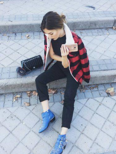 Blanca Suárez con uno botines de Chloé | Instagram
