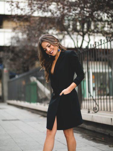 Paula Ordovás con un smoking dress | Mypeeptoes.com