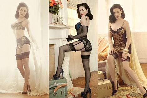 Von follies la colecci n de lencer a vintage dise ada por dita von teese bekia moda - Patricia conde en ropa interior ...