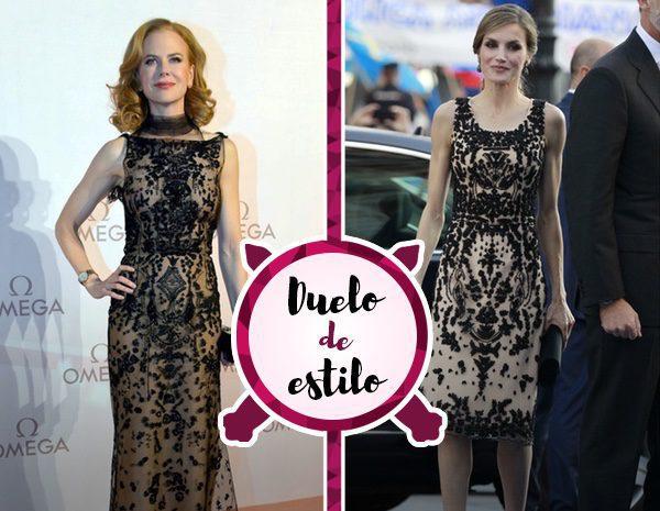 La Reina Letizia y Nicole Kidman coinciden en gustos con un vestido casi idéntico, ¿quién lo luce mejor?