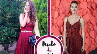 Paula Echevarría y Amaia Salamanca se enfrentan por un María Escoté: ¿Quién luce mejor el vestido?