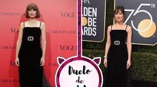 Veronica Echegui y Dakota Johson apuestan por el mismo Gucci. ¿Quién lo ha lucido mejor?