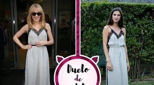 Kylie Minogue y Sandra Gago se rinden ante el mismo vestido lencero. ¿Quién lo ha lucido mejor?