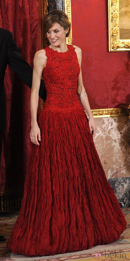 vestido letizia ortiz: