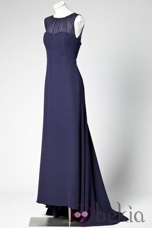 Vestido largo azul marino de Caramelo by Antonio Pernas
