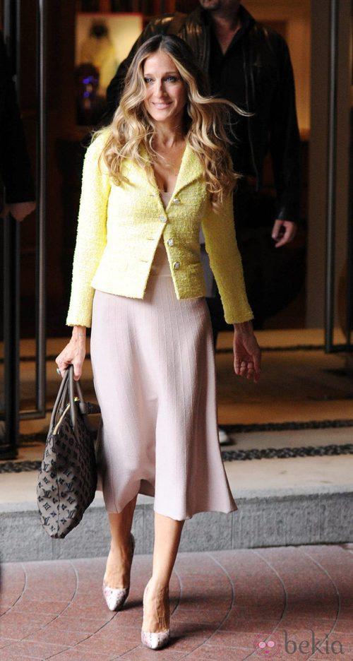 Sarah Jessica Parker con chaqueta de Chanel en Londres: El ...